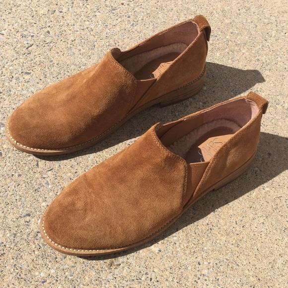 03330e8a3ac275 Franco Sarto Shoes - Franco Sarto Suede Slip Ons Sherpa Lined